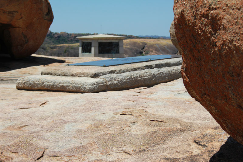 Cecil J. Rhodes' grave on Malindidzimu Hill - Matobo National Park