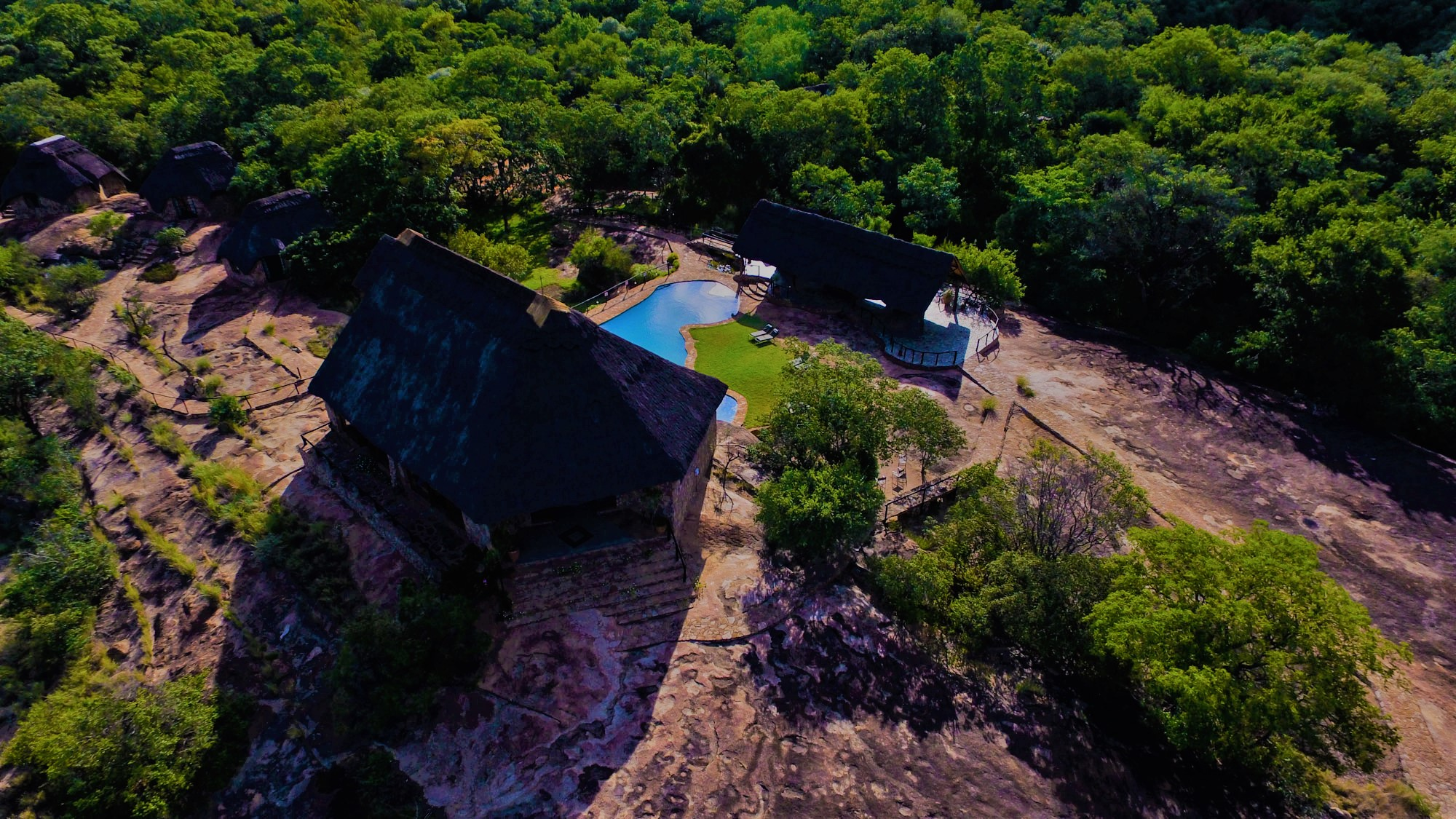 Aerial view of Matobo Hills Lodge