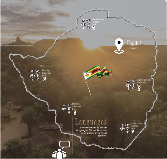 Zimbabwe Map From the Ulitmate Guide to Safari in Zimbabwe 2019
