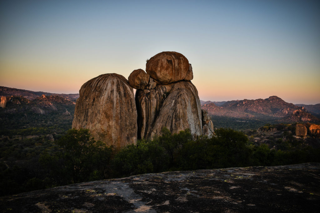 Balancing rocks in the matobo hills